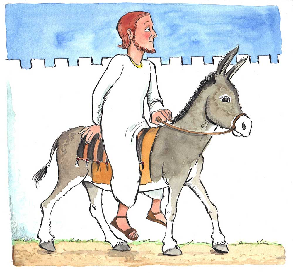 Ausgezeichnet Malerseite Von Jesus Am Palmsonntag Zeitgenössisch ...