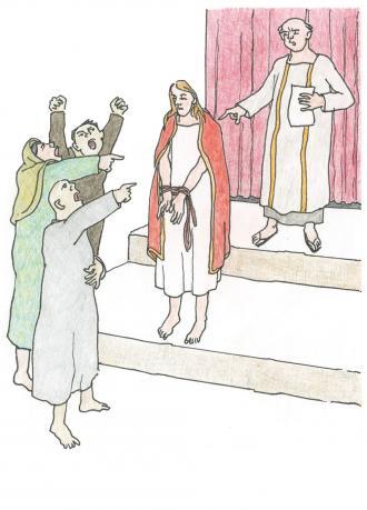 Pilatus verurteilt Jesus
