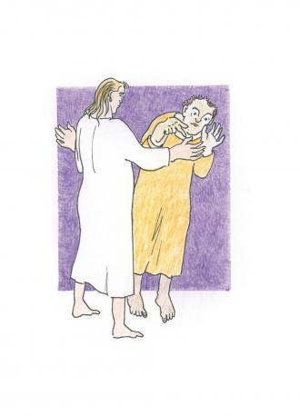 Thomas will die Verletzungen von Jesus anfassen.
