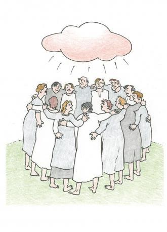 Jesus erklärt, wie der Heilige Geist seinen Freunden hilft.