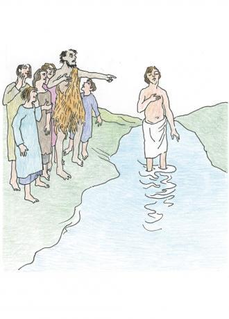 Johannes sagte: Jesus ist wirklich der Sohn von Gott.