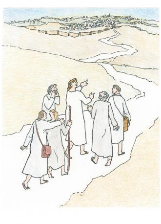 Jesus sagt seinen Freunden, dass sie immer mutig sein sollen.