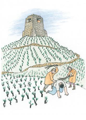 Jesus wehrt sich gegen die Hohen-Priester.