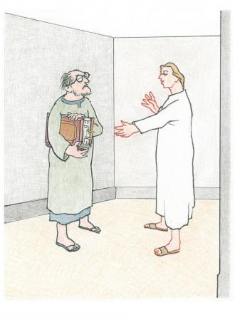 Jesus gibt den Religions-Gelehrten eine gute Antwort.