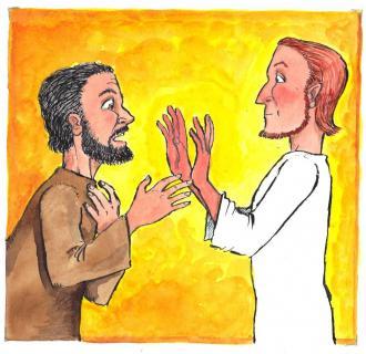 Jesus zeigte Thomas seine Hände