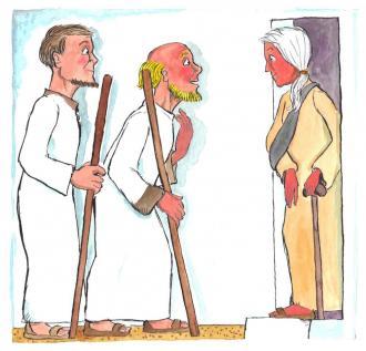 Jesus schickt die Freunde los, damit sie von Gott erzählen