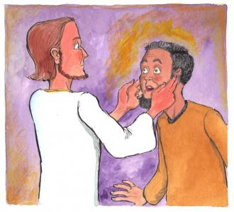 Ein Mann kann wieder hören und sprechen