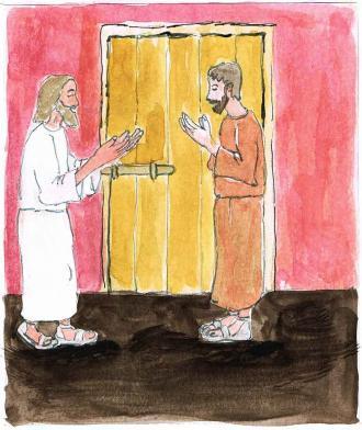 Jesus schenkt den Jüngern den Heiligen Geist