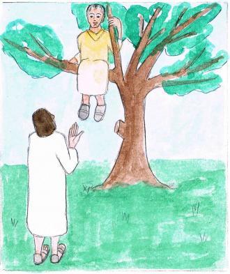 Jesus konnte Zachäus im Baum sehen.